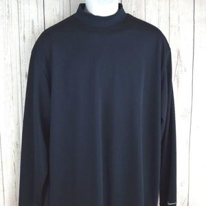 Nike Golf Fit Dry Blue Solid Long Sleeve Shirt